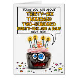 Happy Birthday Cupcake - 99 years old Greeting Cards