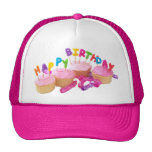 Happy Birthday Cupcake and Candles Trucker Hat
