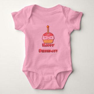 Happy Birthday Cupcake Baby Bodysuit