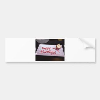 Happy birthday cupcake bumper sticker