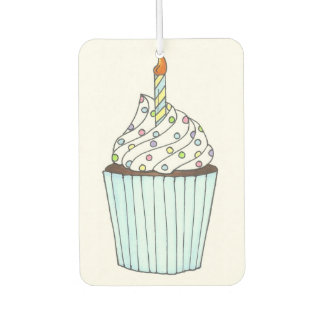 Happy Birthday Cupcake Cake Sprinkles Party Favor Car Air Freshener