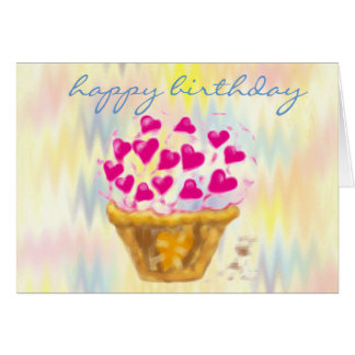 happy birthday cupcake cards