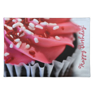 Happy Birthday Cupcake Cloth Placemat