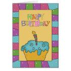 Happy Birthday Cupcake Greeting Card