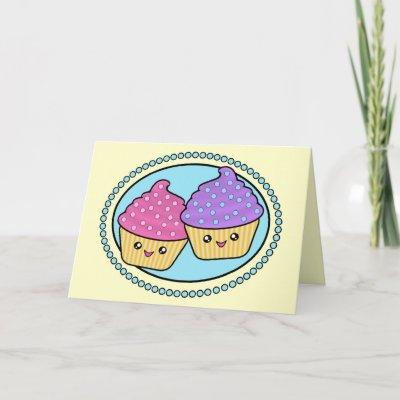 happy birthday cards 2010. Happy Birthday Cupcake Kawaii