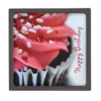 Happy Birthday Cupcake Keepsake Box