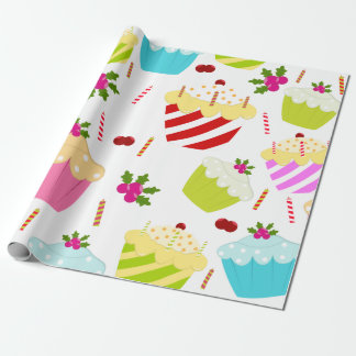 Happy Birthday Cupcake Pattern Wrapping Paper