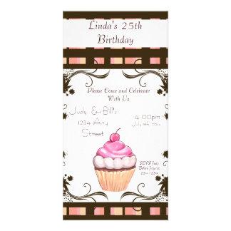 Happy Birthday Cupcake Photo Card