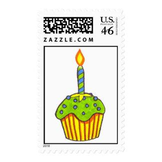 Happy Birthday Cupcake Postage