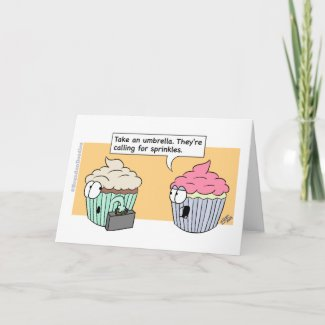 Happy Birthday - Cupcake Sprinkles (1) Card