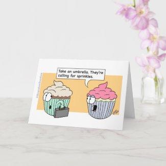Happy Birthday - Cupcake Sprinkles (1) Card