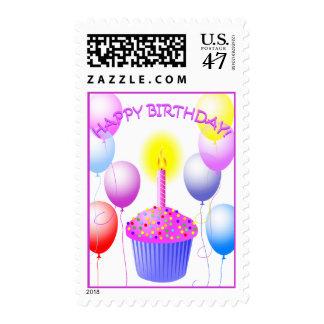 Happy Birthday Cupcake Stamp