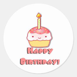 Happy Birthday Cupcake Stickers
