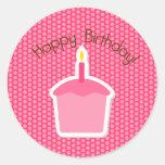 Happy Birthday Cupcake Topper/Sticker