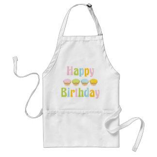 Happy Birthday Cupcakes Apron