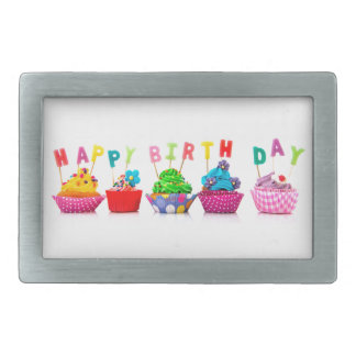 Happy Birthday Cupcakes Belt Buckle