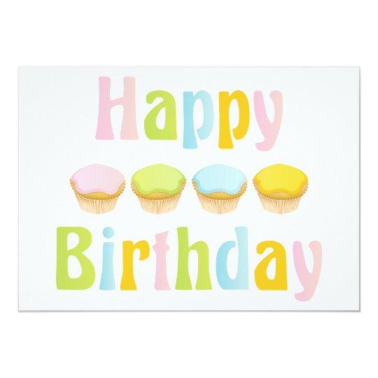 Happy Birthday Cupcakes Card