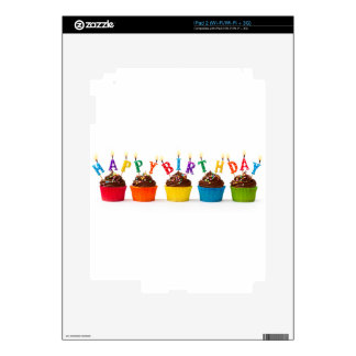 Happy birthday cupcakes iPad 2 decal