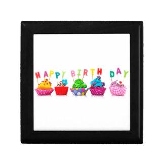Happy Birthday Cupcakes Jewelry Box