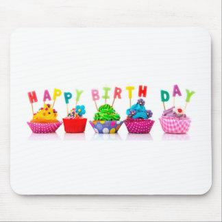 Happy Birthday Cupcakes Mouse Pad