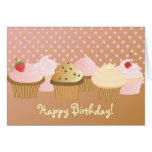 Happy Birthday Cupcakes Stationery Note Card