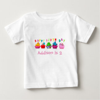 Happy Birthday Cupcakes - Toddler T-shirt
