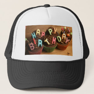 Happy Birthday Cupcakes Trucker Hat
