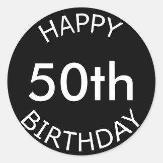Happy Birthday Custom Age Classic Round Sticker