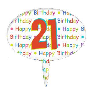 Happy Birthday Custom Age Number Cake Topper