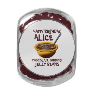Happy Birthday Custom Chocolate Pudding Glass Jars