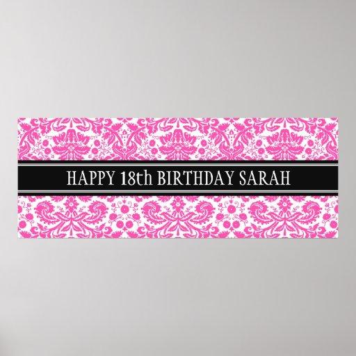 Happy Birthday Custom Year Name Banner Posters