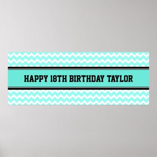 Happy Birthday Custom Year Name Banner Poster
