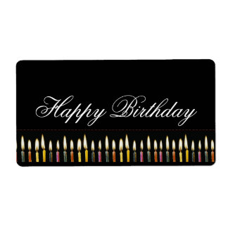 Happy Birthday Customizable Label