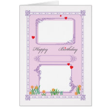 Happy Birthday - customizable photo, age, name Card