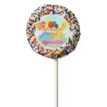 Happy Birthday Cute Dinosaurs Balloons Chocolate Dipped Oreo Pop
