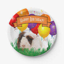 Happy Birthday Cute Guinea Pig Party Balloons Paper Plate