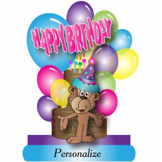 Happy Birthday Cute Monkey Cutout
