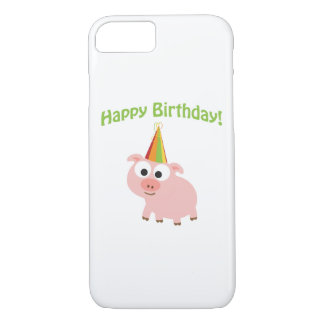 Happy Birthday! Cute Pig iPhone 8/7 Case