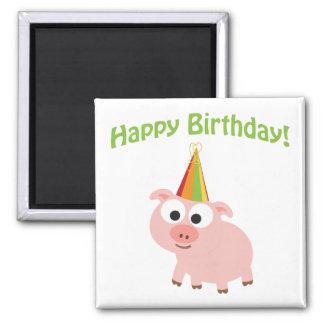 Happy Birthday! Cute Pig Fridge Magnet