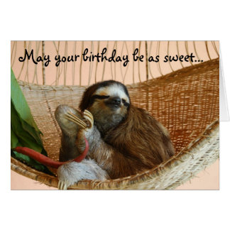 Happy Birthday Cute Sloth Card