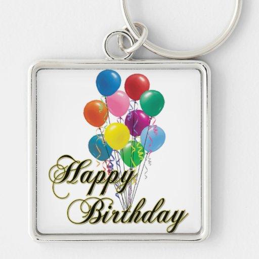 Happy Birthday - D4 Birthday Keychain