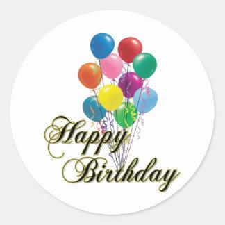 Happy Birthday - D4 Classic Round Sticker