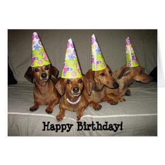 Happy Birthday Dachshund Card