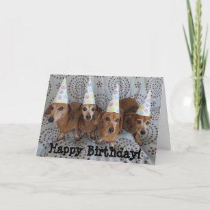 Dachshund Birthday Cards Zazzle