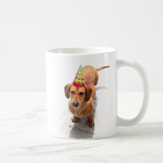 Happy Birthday Dachshund mug