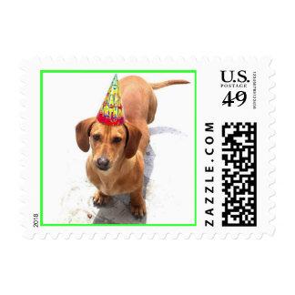 Happy Birthday Dachshund Postage