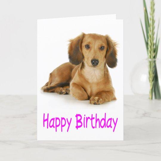 Happy Birthday Dachshund Puppy Dog Card Zazzle