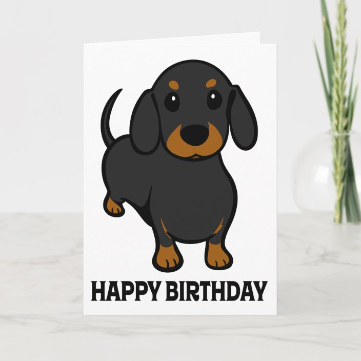 Happy Birthday Dachshund Puppy Dog Note Card Zazzle Com