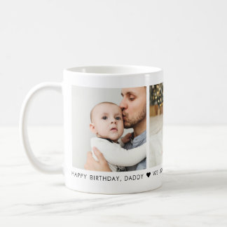Happy Birthday Dad 3 Photo Personalized Coffee Mug