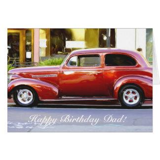 Happy Birthday Dad Classic Red Car Card